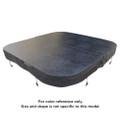 Generic 2150 x 2150 R220mm Spa Pool Hard Cover (Charcoal)