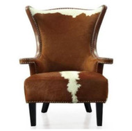 Taurus   Cowhide Wing  Chair
