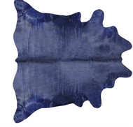 Navy  Coloured  Cowhide  Rug