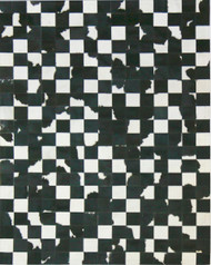Black &  White  Cowhide  Patchwork  Rug 1.5m x  2m