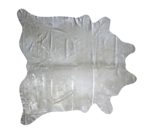 Silver  Metallic  Raindrop  Cowhide  Rug   2m x  2m  approximately