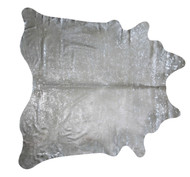 Silver  Metallic Raindrop Cowhide  rug   2mx  2m appproximately.