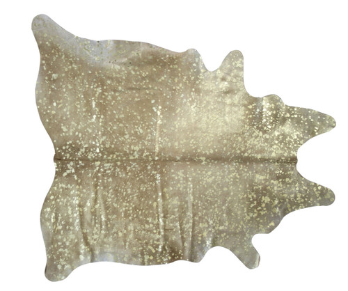 Gold  Metallic Raindrop  Cowhide  Rug 2mx2m  approximately.