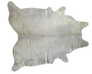 Gold  Metalic  Cowhide   Rug   2m x  2m  approximately