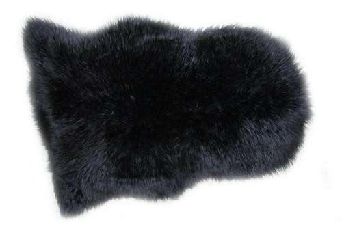 Black  Sheepskin  Rug  110x70cm  approximately.