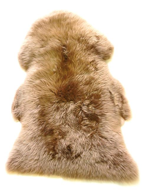 Brown  Merino  Sheepskin  Rug 110cm x 70cm approximately
