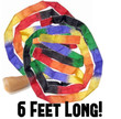 Silk - Thumb Tip Streamer - 6 foot x 1 inch! Pull colours from your empty hand!