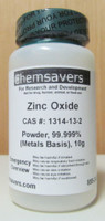 Zinc Oxide, Powder, 99.999% (Metals Basis), Certified, 10g
