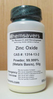 Zinc Oxide, Powder, 99.999% (Metals Basis), Certified, 50g