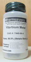 Ytterbium Metal, Pieces, 99.9% (Metals Basis), Certified, 5g