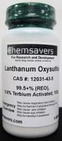 Lanthanum Oxysulfide, 99.5+% (REO), 0.6% Terbium Activated, 100g