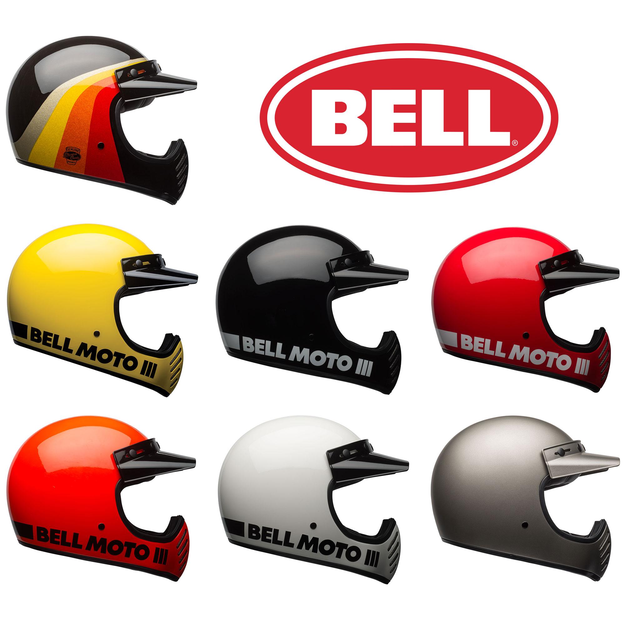 Bell Moto 3 >> Bell Moto 3 Moto 3 Motorcycle Helmet Vintage Retro Style Choose
