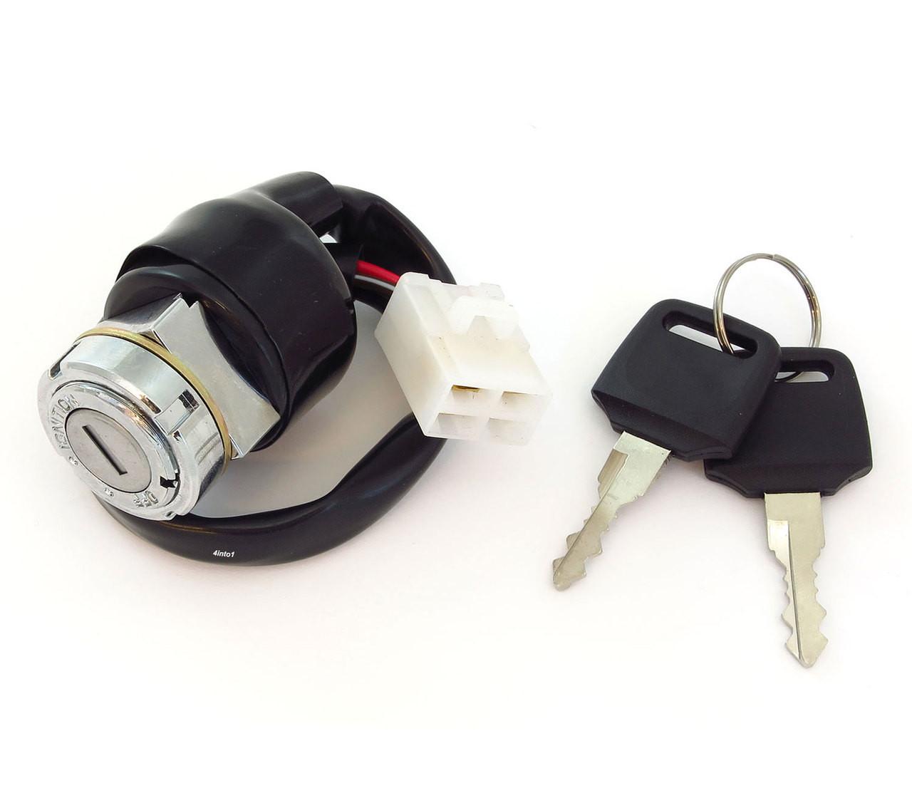 Square Plug Ignition Switch /& Seat Lock Set CB200//350F//360//500K//550K//750K CL200//360