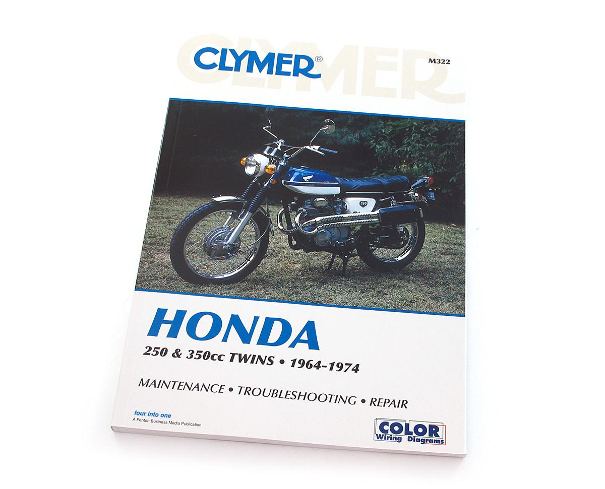 Clymer Manual Honda 250 350cc Twins 1964 1974 Wiring Diagram Image 1
