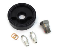 TTR400 Aluminum Anodized Oil Cooler Sandwich Plate Adaptor - CB350F CB400F - Black