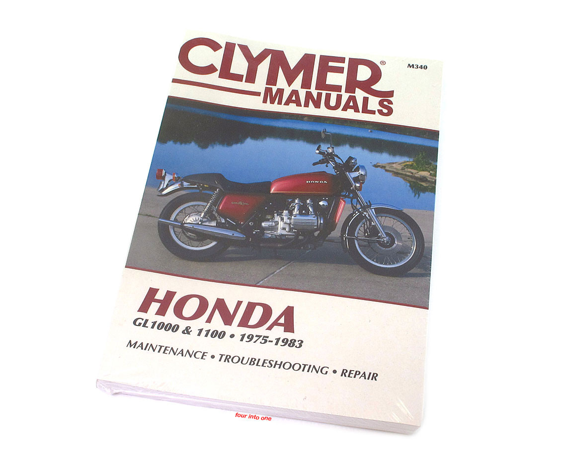 clymer manual honda gl1000 gl1100 gold wing 1975 1983 rh 4into1 com 1983 Honda Goldwing Interstate Parts 1983 honda goldwing 1100 service manual