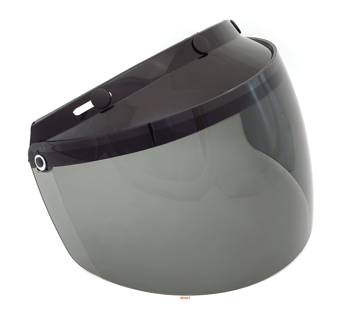44e2b0fa GMAX - 3 Snap Flip Up Helmet Shield - Smoke