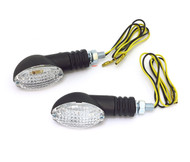 Black LED Cat Eye Turn Signals - Clear Lens
