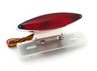 Slant Cat Eye Tail Light Assembly With License Plate Bracket