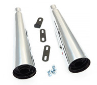 MAC Chrome Slip On Megaphone Mufflers - Honda CX500