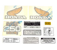 Decal Set - Honda MT250 Elsinore 1975