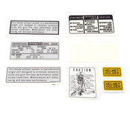 Warning and Service Label Set - Honda CB550F Super Sport