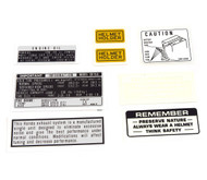 Warning and Service Label Set - Honda CB750K - 1971-1972