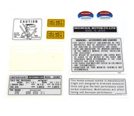 Warning and Service Label Set - 1975 Honda CB400F