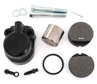Front Brake Caliper Kit w/Pads - Honda CB350F/360/400F/500/550