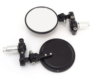 Folding Bar End Mirrors - Black