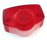Genuine Honda Tail Light Lens - 33702-077-671 - CB100/175/350/450/500/750 - 1967-1971