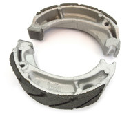 Emgo Grooved Front or Rear Brake Shoes - Honda MB5 CT/XL70 CB/TL/XL125 XL/XR200R/350R/600R