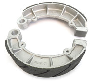 Emgo Grooved Rear Brake Shoes - Honda CB700SC VF700/750 VT700/750/800/1100