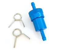 Blue Anodized Aluminum Fuel Filter - 1/4""