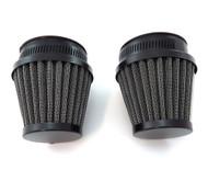 Set of 2 Black Pod Filters Pod - 54mm - Honda CB/CM400/450 CX/GL500/650