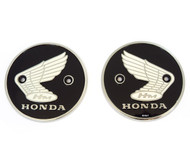 Genuine Honda - Left & Right Tank Emblems - 87020-070-010 - CA200 CL90 S90 CB92 CA95 CB160