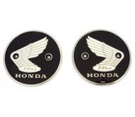 Genuine Honda - Left & Right Tank Emblems - 87020-070-010 - CA200 CL90 S90 CB92 CA95 CB160