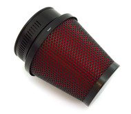 Black & Red Pod Filter - 50mm - Honda CB/CL350/360/450 CB500T
