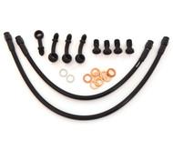 Stainless Steel Brake Line Kit - Black - 35 Degree Caliper Mount - Honda CB360/450/500/550/750