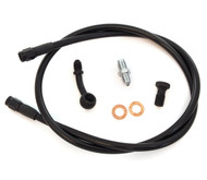 Stainless Steel Brake Line Kit - Black - Single Line - Honda CB350/360/450/550/750