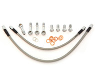 Stainless Steel Brake Line Kit - Clear - 35 Degree Caliper Mount - Honda CB360/450/500/550/750