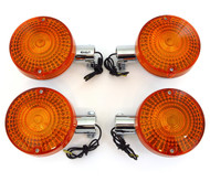 Set of 4 Reproduction Turn Signals - Single Filament - Honda CB400/500/550/650/750/900 CX500 GL1000