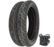 Dunlop D404 Tire Set - Honda SL350K CB400A/T CB/CL450K CB500/550/750
