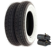 Shinko SR550 Street White Wall Tire Set - Honda Z50A/R