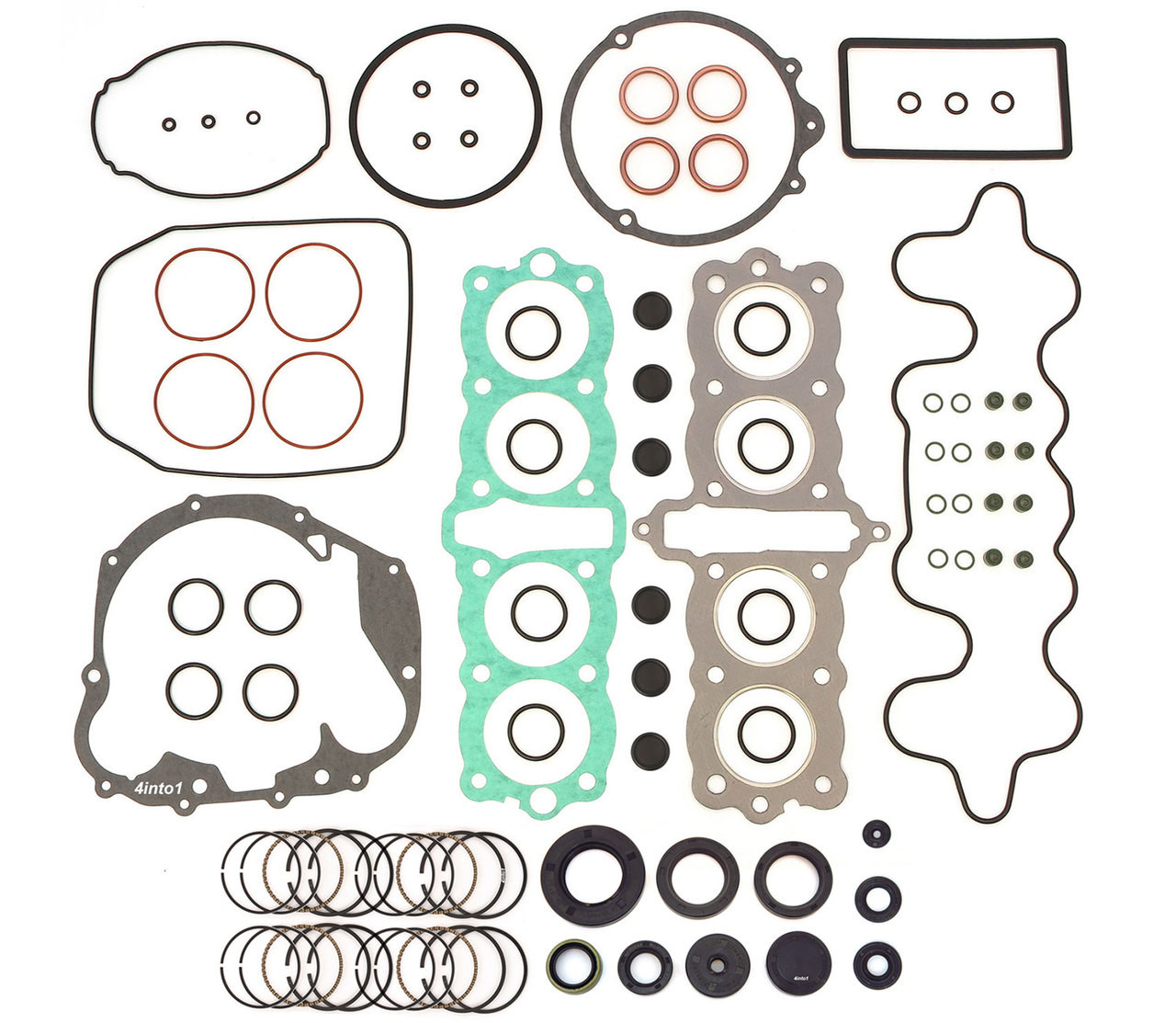 Gold 1971-1973 Honda CB500 Four O-Ring Chain and Sprocket Kit