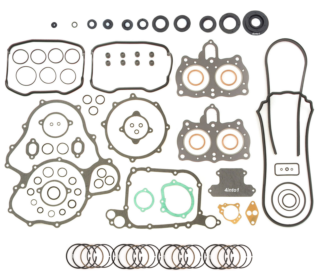1975-1979 Seals Honda GL1000 Gold Wing Engine Rebuild Kit Gasket Set