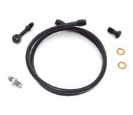 Black Stainless Steel Brake Line Kit - Single Line - Honda CB350/360/450/550/750