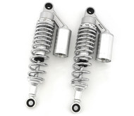 Silver & Chrome Remote Reservoir Shocks - Eye To Eye - 310-320mm
