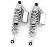 Silver & Chrome Remote Reservoir Shocks - Eye To Eye - 310-320mm