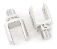 Remote Reservoir Shocks - Clevis Set - Silver